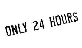 Seulement 24 heures de tampon en caoutchouc Photos libres de droits