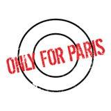 Seulement pour le tampon en caoutchouc de Paris Photo stock