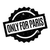 Seulement pour le tampon en caoutchouc de Paris Photographie stock libre de droits