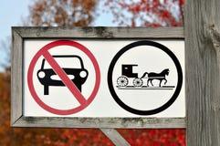 Seulement signe hippomobile de véhicules Images stock