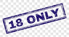 SEULEMENT timbre rayé du rectangle 18 Photo libre de droits