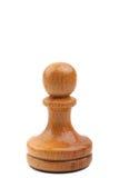Seules pièces d'échecs blanches d'isolement sur le blanc photos stock