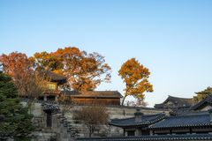 Seunghwa ru i Nakseonjae obrazy royalty free