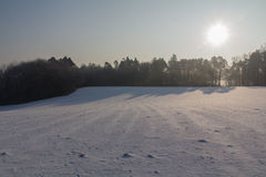 Seunset in winter stock image