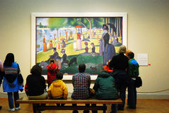 Seurat beim Chicago Art Institute Lizenzfreies Stockbild