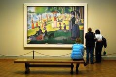 Seurat em Art Institute de Chicago Imagem de Stock