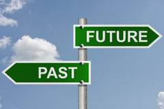 Seus futuro e passado Fotografia de Stock Royalty Free