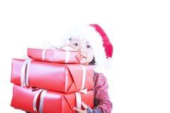 Seus presentes isolados no branco Fotos de Stock Royalty Free