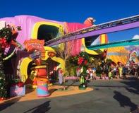 Seuss land på universella studior royaltyfri bild