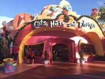 Seuss land på universella studior under julsäsong arkivbild