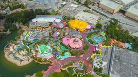 Seuss Landing Orlando FL. Aerial image of Dr Seuss Landing Orlando FL royalty free stock photos