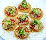 Sev Batata puri Royalty Free Stock Photography