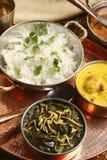Sev Ganthia Sag med ris från Gujarat fotografering för bildbyråer