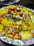 Sev Namkeen Papdi街食物 图库摄影