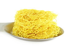 Sev  noodles or vermicelli indian food snack in pure white background Royalty Free Stock Images