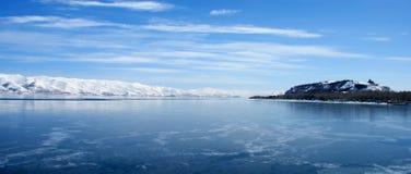 sevan亚美尼亚的湖 库存照片