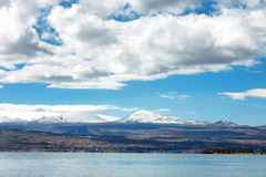 Sevan lake and white clouds blue sky on a sunny day, Armenia Stock Photography