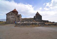 SEVANAVANK,亚美尼亚- 2016年10月14日:寺庙在修道院里 库存图片