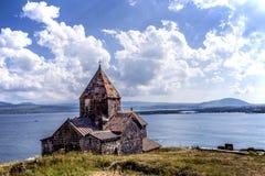 Sevanavank, iglesia en el lago Sevan Imagen de archivo
