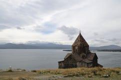 Sevanavank kloster royaltyfri foto
