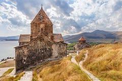 Sevanavank kloster i Armenien Fotografering för Bildbyråer