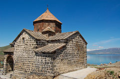 Sevanavank and lake Sevan Royalty Free Stock Photo