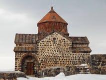 Sevanavank - a monastery (the 9th century) on the shore of Lake Sevan in Armenia. stock image