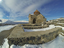 Sevanavank monastery in winter Royalty Free Stock Images