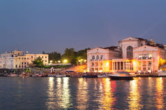 Sevastopol Bay at night stock photos