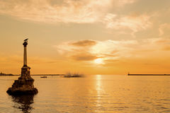 Sevastopol Bay at sunset Royalty Free Stock Photography
