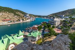 Sevastopol, Crimea - July 3. 2019. The Balaklava Bay From Top Royalty Free Stock Image
