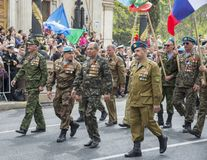 Veterans on the Victory Day parade, Sevastopol Stock Photography