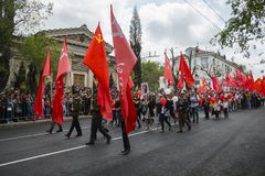 Victory Day parade in Sevastopol Stock Images