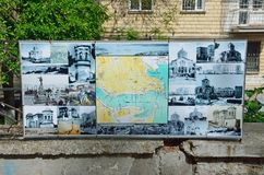Sevastopol, Crimea, Russia, May, 09, 2017. Map-scheme of location of attractions, set on the street Frunze. Sevastopol, Crimea, Russia, map-scheme of location of stock photo