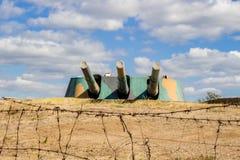 SEVASTOPOL, CRIMEA - SEPTEMBER 2014: Armor-worn battery No. 30 royalty free stock images