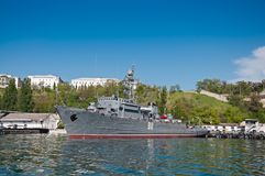 Seagoing Minesweeper of The Black Sea Fleet of the Russian Navy at the Sevastopol Bay Royalty Free Stock Photography