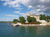 Sevastopol harbor. View from the sea Stock Photos