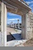 SEVASTOPOL KRIM - OKTOBER, 07 2017: Historisk och arkeologisk Museum-reserv Chersonese Taurian Arkivfoto