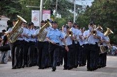 Sevastopol Military Tattoo 2013. Parade of military orchestras Sevastopol Military Tattoo 2013 Stock Image