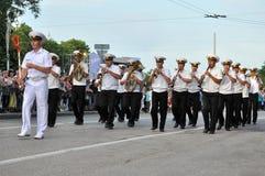 Sevastopol Military Tattoo 2013. Parade of military orchestras Sevastopol Military Tattoo 2013 Stock Photo