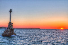 Sevastopol Monument to the scuttled ships Stock Photo
