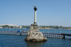 Sevastopol, a monument to the scuttled ships Royalty Free Stock Image