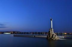Sevastopol natt Royaltyfri Bild