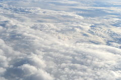 Flight over the clouds. Royalty Free Stock Images