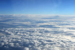 Flight over the clouds. Stock Images