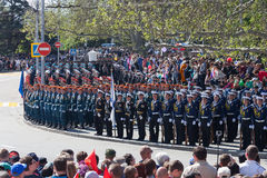 Sevastopol, Russia - May 9, 2015: Victory Day. Royalty Free Stock Images