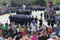 Sevastopol, Russia - May 9, 2015: Victory Day. Stock Photos