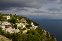 Sevastopol, Russia - September 21, 2014: cape Fiolent, view of St.George's monastery Royalty Free Stock Images