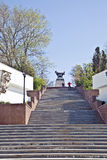Sevastopol, staircase to the monument to the brig Mercury Stock Photography