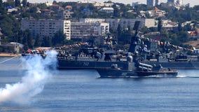 SEVASTOPOL UKRAINA, LIPIEC, - 29: Przygotowywać dla Rosyjskiego marynarka wojenna dnia zbiory